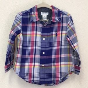 Ralph Lauren baby cotton plaid shirt 18 months